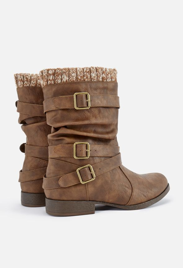 Nafise Sweater Cuff Boot   Boots, Faux