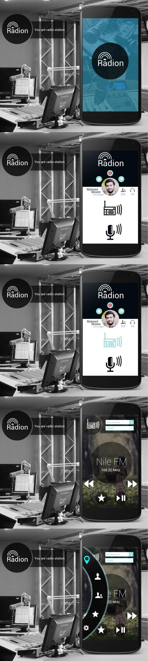 Radion App ui design