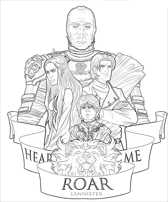 61 best Game of Thrones Coloring Pages for Adults images ...