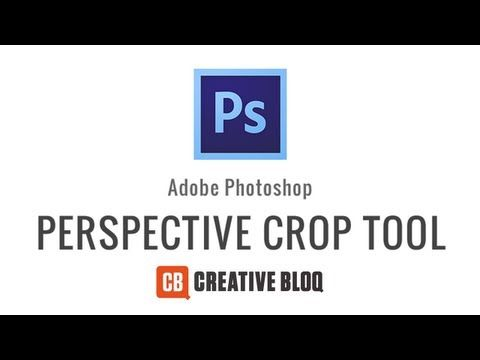 how to use perspective crop tool photoshop
