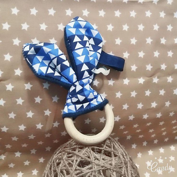 Hochet oreilles de lapin★ inspiration Montessori ★En bois brut non traité ★ Idée cadeau : Jeux, peluches, doudous par mesbouillesabisous