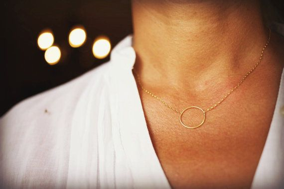 Solid gold 14k Karma necklace Circle infinity gold by SoCoolCharms