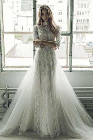 Коллекция свадебных платьев Ersa Atelier осень-зима 2017 - The-wedding.ru