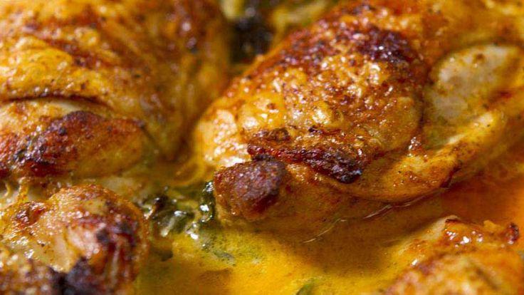 The best Succulent crispy skin chicken with lemon butter cream sauce  S- sub baking blend for flour