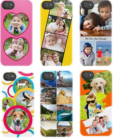 Uncommon battery charging cases, now customized with your own photos. Great Mother's Day gift.