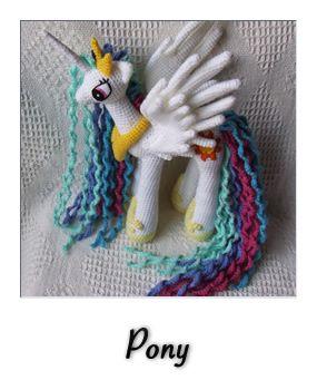 patron gratis amigurumi pony 2