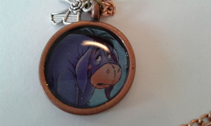 Eeyore Pendant Necklace by RogueUnicornCrafts on Etsy