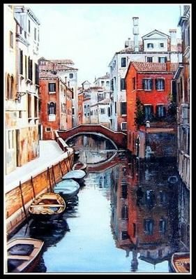 """Venice 3"" painting by  Constantin Paunescu"