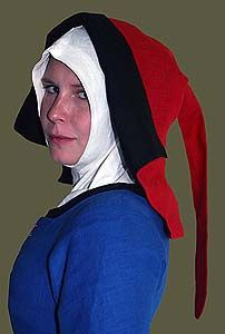 15th Century Linen Flemish Hood (reversible)  Revival Clothing