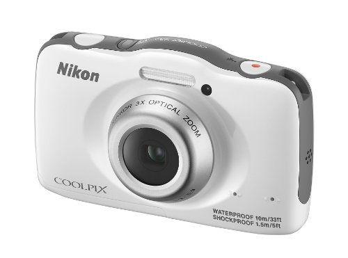 Nikon Coolpix S32 Appareil photo numérique compact 13,2 Mpix Ecran 2,7″ Zoom optique 3x Blanc | Your #1 Source for Camera, Photo & Video