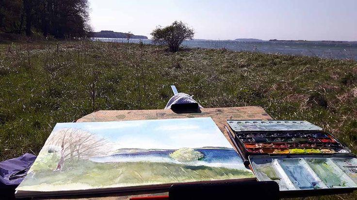 Malen bei Alt Reddevitz – Etappe unsererMalreise auf Rügen   Malen am Having bei Alt Reddevitz (c) FRank Koebsch (4)