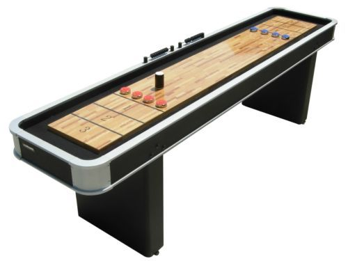 Atomic 9 Ft Platinum Shuffleboard Table Game Indoor Home Arcade  - Take office breaks and department competitions to a whole new level.   Create tech breaks and have everyone put away the cell phones and lap tops to interact with each other on a new level.   Its about fun, team work and communication.  The 8 to 5 new rules of fun.