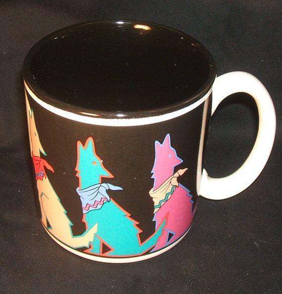 Moonlighting Coffee Mug Potpourri Press Coyote Wolf by ManHoard, $24.95