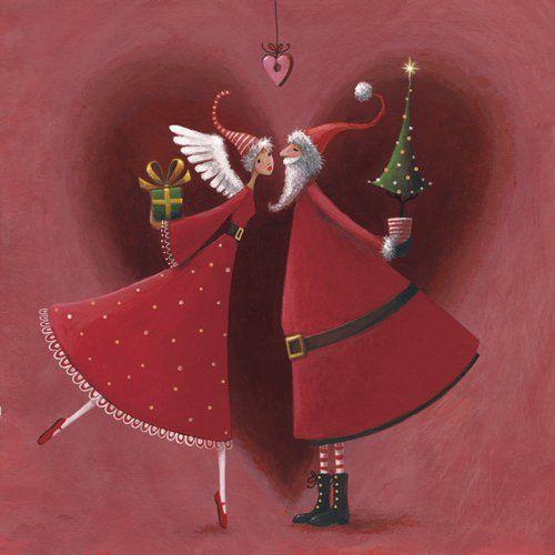 Mr. & Mrs. Clause kiss / Mila Marquis