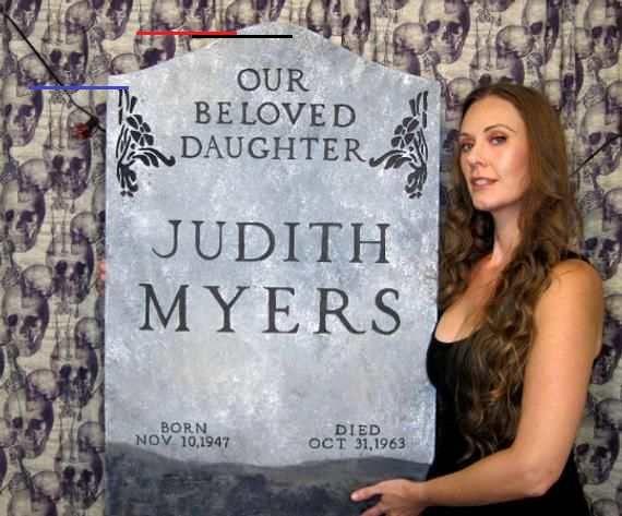 Halloween 2020 Judith Myers Judith Myers Halloween Movie Replica Tombstone 36