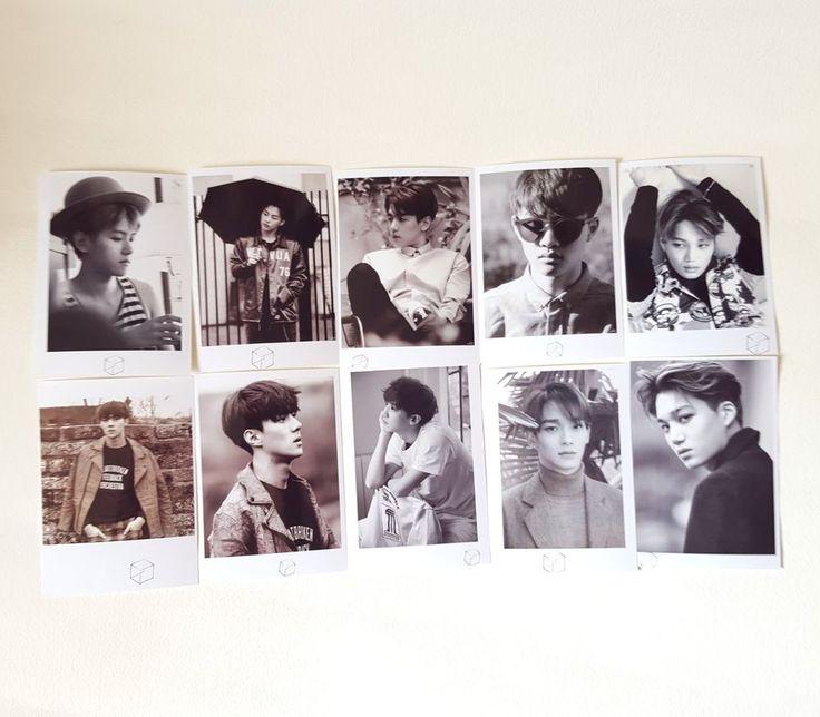 EXO ALBUM PICTORIAL KPOP OFFICIAL GOODS PHOTO POLAROID - 10PCS (New)