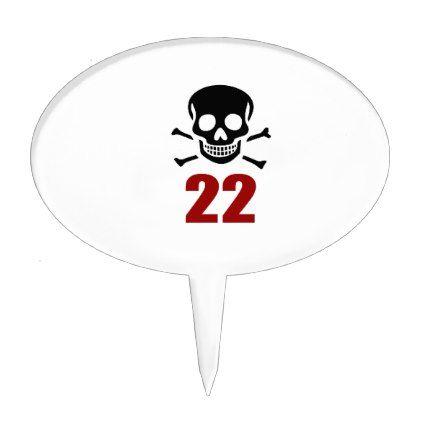#22 Birthday Designs Cake Topper - #giftidea #gift #present #idea #number #22 #twenty-two #twentytwo #twentysecond #bday #birthday #22ndbirthday #party #anniversary #22nd