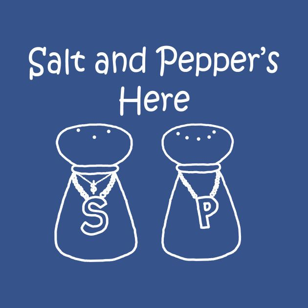 Salt and Pepper's Here by PelicanAndWolf on Tee Public #pushit #90s #pun #funny #hiphop #tshirt