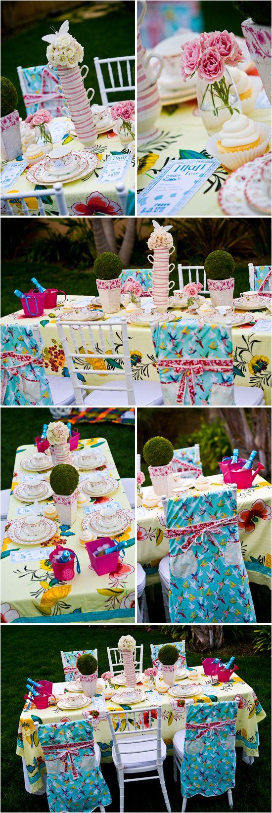 Alice in Wonderland themed bridal shower