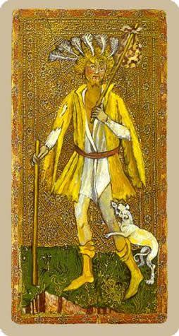 Cary-Yale Visconti Tarot - The Fool