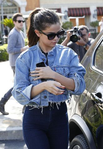 jacket ripped denim selena gomez short denim jacket blue denim denim jacket