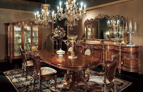 Итальянская столовая в стиле барокко