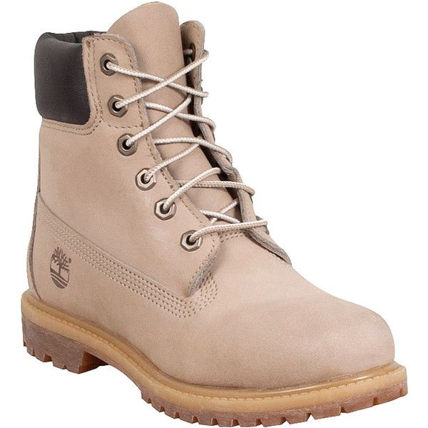 Timberland Waterproof Women's Lace Up Boot ($160) ❤ liked on Polyvore featuring shoes, boots, ankle booties, zapatos, white, white shoes, laced up boots, white lace up boots, water proof boots and lace up work boots