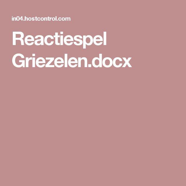 Reactiespel Griezelen.docx