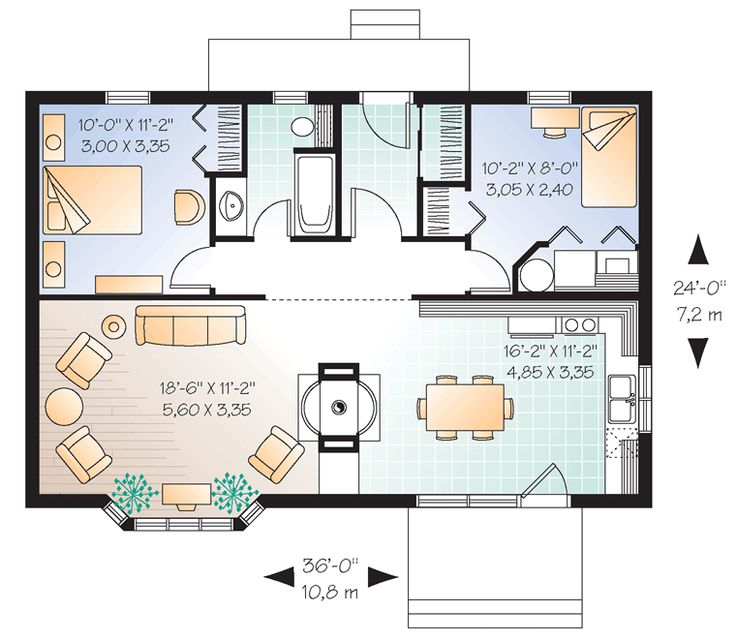 Best 2 Bedroom Plans: 17 Best Images About Small Apartment Plans And Layouts On