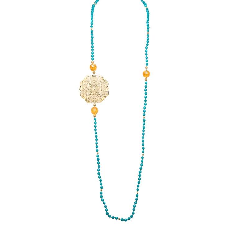 Jardin mosha jade necklace turquoise up to 70 off for Jardin necklace