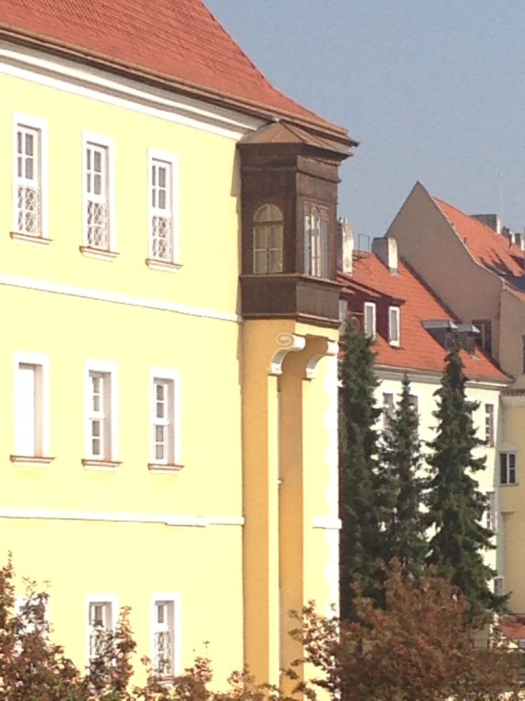 A detail of the house at Uvoz street in Prague