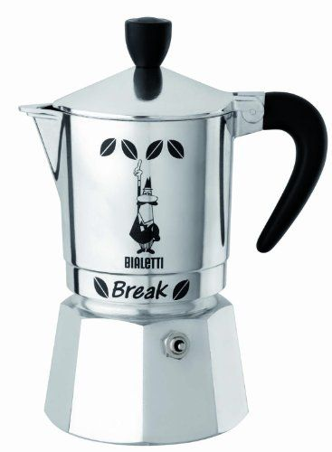 Bialetti Break Coffee Maker 3Cups BLACK  Italian Import  *** Be sure to check out this awesome product.