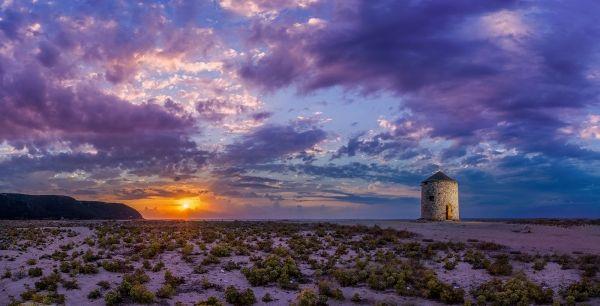 Windmill of Agios Ioannis beach