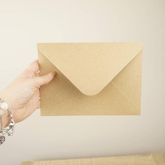 Wedding Envelopes, Kraft Envelopes, 5x7 Kraft Envelopes, Brown Envelopes, Vintage Envelope, Rustic Envelopes, 5x7 Envelopes