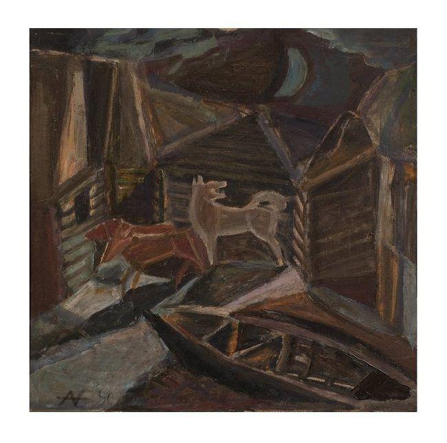 Nikolay Andronov (1929-1998),  A Moonlit Night, 1990