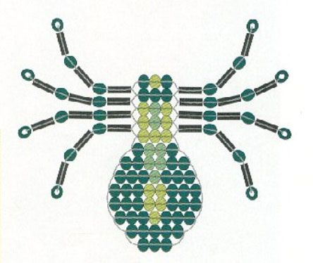beaded spider pattern