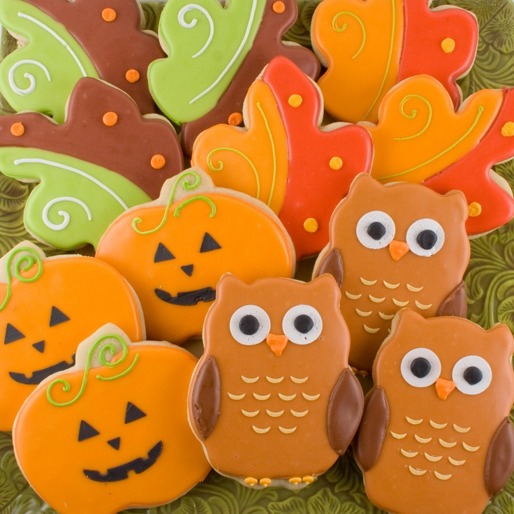 Fall Decorated Cookie Assortment - 1 dozen \/ 12 favors. $24.00, via Etsy.