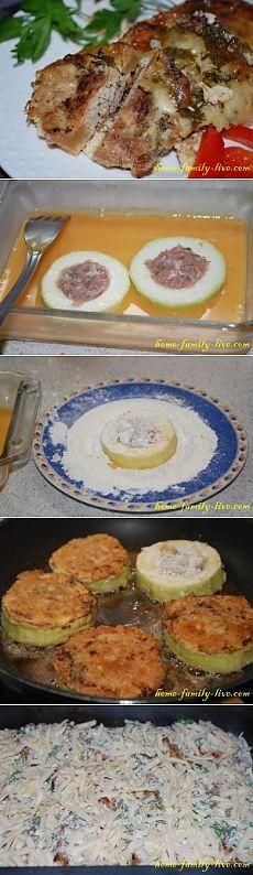 Кабачок фаршированный - пошаговый рецепт с фотоКулинарные рецепты