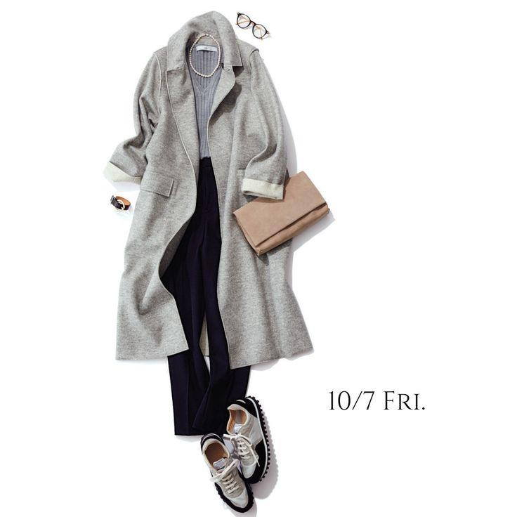 グレー×キレイ色が人気!秋冬コーデ人気ランキングトップ10Marisol ONLINE|女っぷり上々!40代をもっとキレイに。