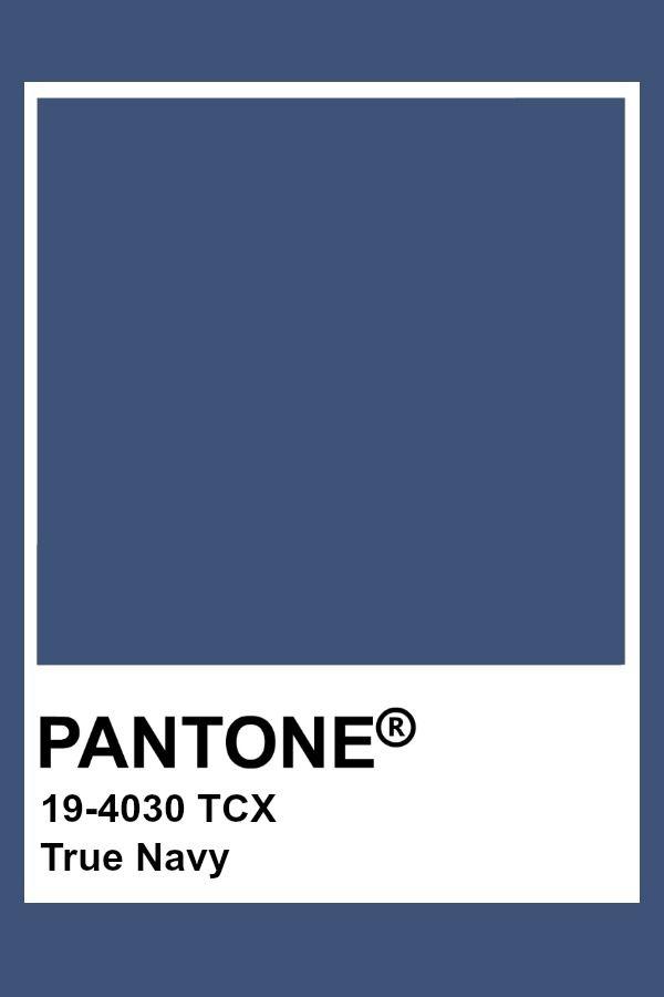 Pantone True Navy We Will In 2019 Pantone Colour