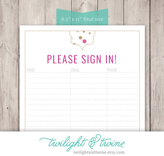 Best Classes Images On   Sign In Sheet Template