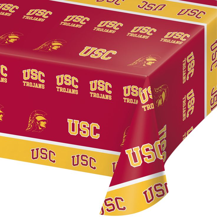 Univ of Southern California 54 x 108 Plastic Tablecover/Case of 12 Tags: University of Southern California; Tablecover; Collegiate; University of Southern California Tablecover;University of Southern California party tableware; https://www.ktsupply.com/products/32786326434/Univ-of-Southern-California-54-x-108-Plastic-TablecoverCase-of-12.html
