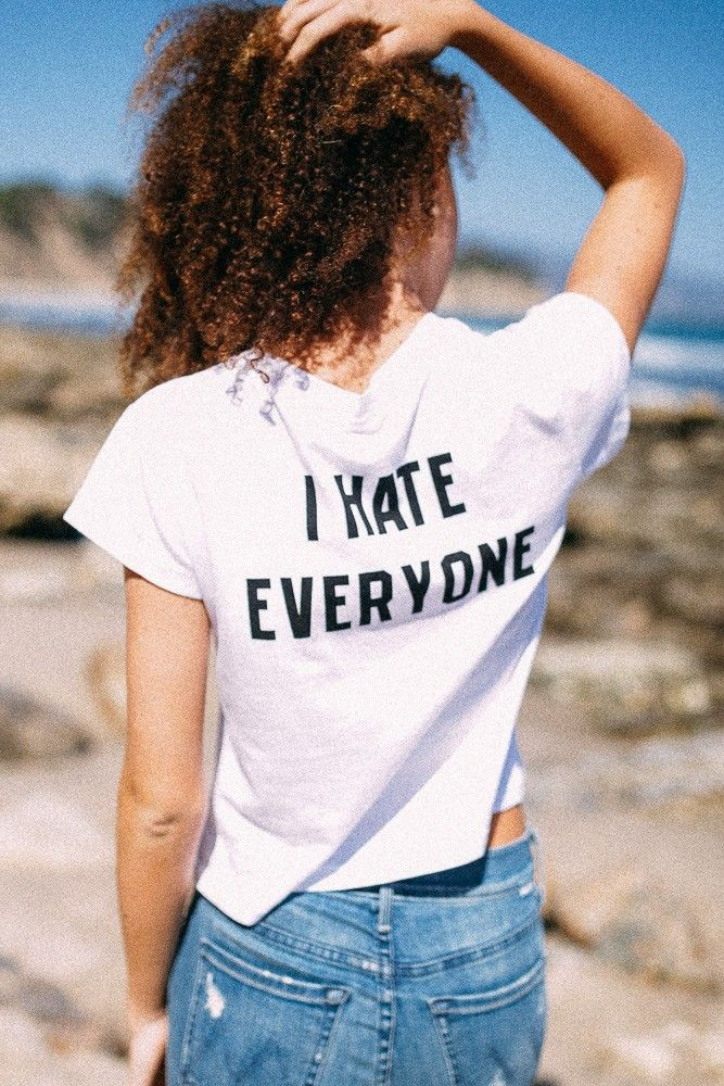 Brandy ? Melville | Ali I HATE EVERYONE Top - Graphics