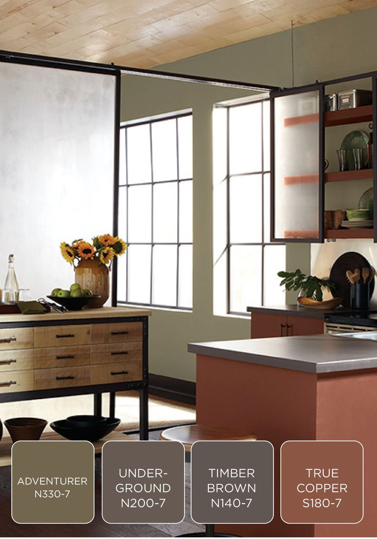 Give your kitchen a modern and earthy update with behr for Neutral brown paint colors
