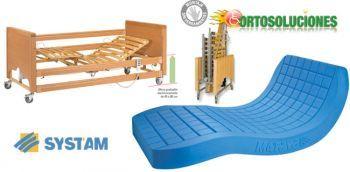 Cama 4 planos más colchon PACK ANTARES.Pack compuesto para una cama electrónica modelo antares con carro elevador, barandillas ( par ) de madera, 4 planos eléctricos, cabecero y piecero MÁS COLCHON