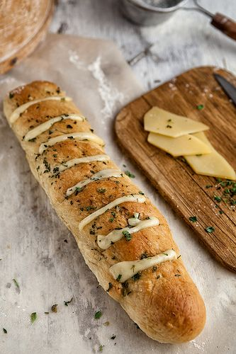 Garlic, Cheese And Herbs Bread