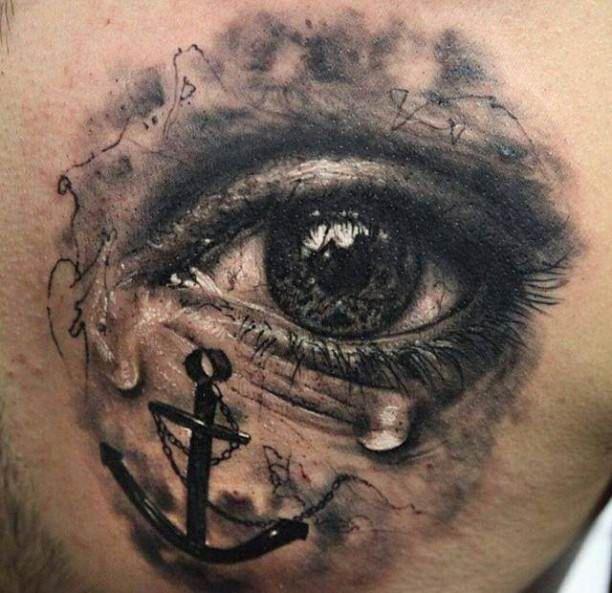 Tattoo crying eye 3D tattoo   #Tattoo, #Tattooed, #Tattoos