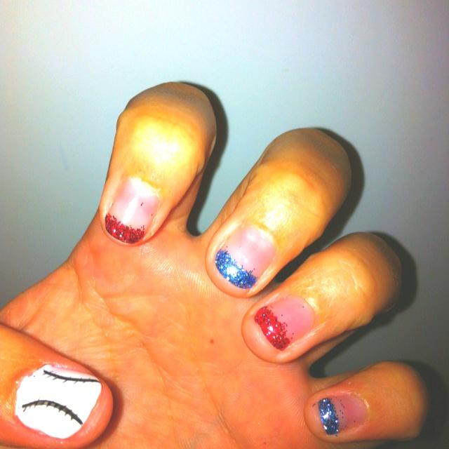Cub Baseball Nails#Repin By:Pinterest++ for iPad#