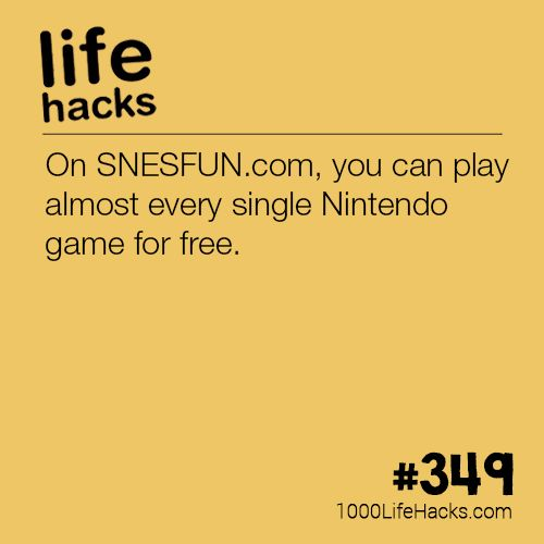 The post Play Nintendo Games for Free appeared first on 1000 Life Hacks.