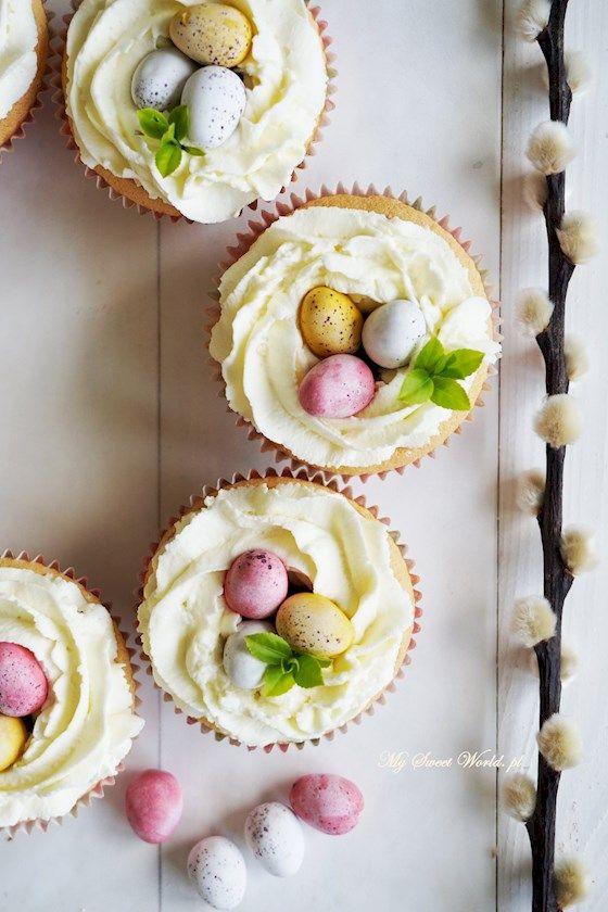 Wielkanocne babeczki z nutellą i śmietankowym gniazdkiem || mysweetworld